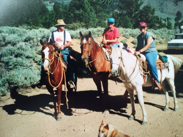 Riding in the mountains -1997