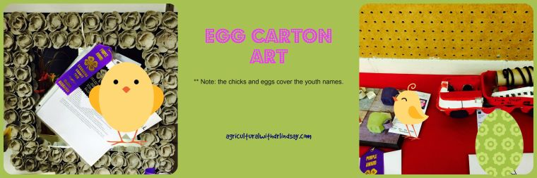 Egg carton art - final